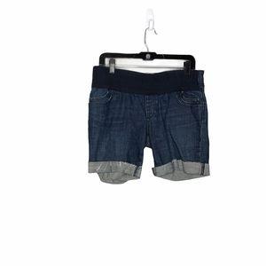 Gap Maternity Cuffed Blue Jean Shorts Women's 8